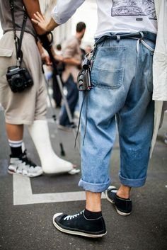 Out and about at Paris Men's Spring 2017 Fashion Week.