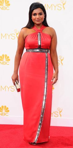 Emmy Awards 2014 Red Carpet Photos - Mindy Kaling from #InStyle