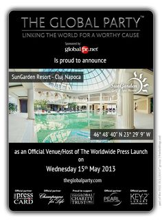As a #Journalist, #Blogger or #Media Correspondent register to attend: http://www.theglobalparty.com/venues/sungarden-resort/