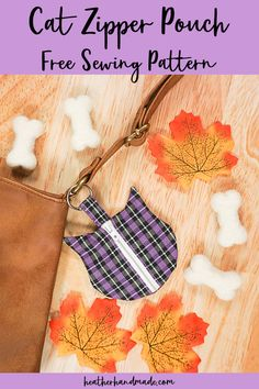 This little cat zipper pouch is easy to sew, and a cute way to keep up with your spare change or maybe your earbuds. Heather Handmade made it for her daughter, but it's just as fun for teens and adults.… Read more ...