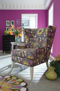 Go a little wild with the Arden chair's wingback.