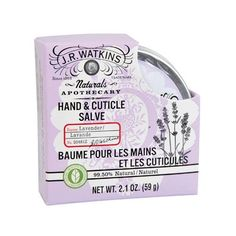 J.r. Watkins Hand And Cuticle Salve Lavender 2.1 Oz