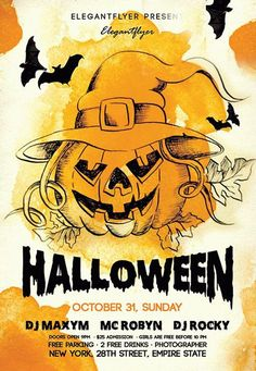 Night Halloween Free Flyer Template