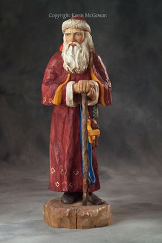 old world st nick dolls | Hand carved and hand painted old world Santa Claus figurine by ...