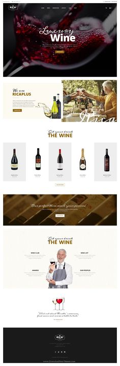 Rica Plus is delicious PSD #Template for Restaurant, Cafe, #wine & Pub #website. Download Now!