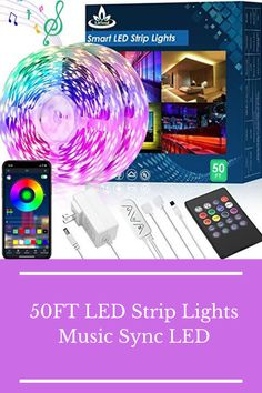 50FT LED Strip Lights,Music Sync LED lights for Bedroom Home Party Decor,RGB Color Changing Rope Light with Remote,Sensitive Built-in Mic App Controlled 12v Ultra Bright,APP+Remote+Mic+3 Button Switch #led #ledstripe #musicsync #rgb #rgbdecor Crafts To Make And Sell, Diy And Crafts, Color Changing Rope Lights, Diy Christmas Gifts For Kids, Cheap Diy Home Decor, Diy Shadow Box, Light Music, Mother's Day Diy