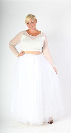 3353085f10392 Plus Size Clothing for Women - Society+ Premium Tutu - Long White - Society+  - Society