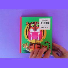 """DVLM LIJ Blog - Román Belmonte on Instagram: """"~~~~~~~~~~~~ 🐯🐅🐯🐅🐯🐅🐯🐅 Tu lo que quieres es que me coma el tigre, que me coma el tigre... 🐅🐯🐅🐯🐅🐯🐅🐯 » » LIBRO: Rudolf Lukes 2018. """"Tigre y…"""" Pop Up, Cover, Blog, Instagram, Art, Te Quiero, Book, Art Background, Popup"""