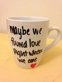 Coffee/tea mug hand painted and inspired by Ed Sheerans Thinking Out Loud. All of my mugs are hand painted and sealed with heat to preserve the