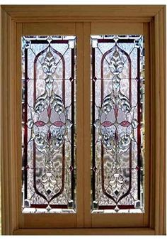 Dollhouse Miniature 1:12 Scale Artisan Leaded Glass French Doors