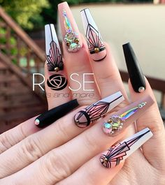 The latest tips and advice for women on beauty,hairstyle, nails, fashion and more. Best Acrylic Nails, Acrylic Nail Designs, Glue On Nails, Gel Nails, Nail Nail, Cute Nails, Pretty Nails, Homecoming Nails, Prom Nails