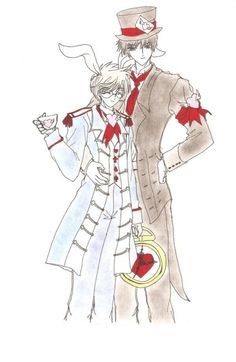 Tumblr | Sakura in Wonderland | The White Rabbit (Tsukishiro Yukito) | The Mad Hatter (Kinomoto Toya)