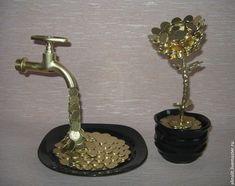 Купить Цветок из монеток - символ благополучия - цветок, денежный талисман, монеты, монетки, подарок