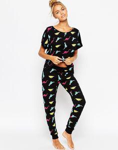Image 1 - ASOS - Ensemble t-shirt et leggings à imprimé dinosaures de couleur vive