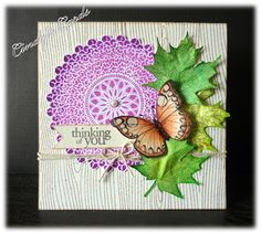 Doily Thinking of You by frenziedstamper - Cards and Paper Crafts at Splitcoaststampers