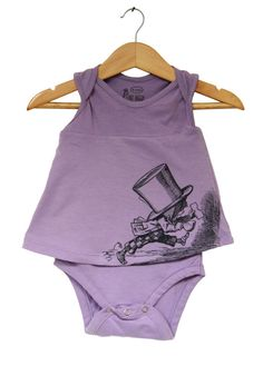 Baby Girl bodysuit Dress - Alice in Wonderland - The Mad Hatter - ON SALE