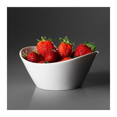 SKYN Serving bowl IKEA Made with bone china that is thin, lightweight, strong and very durable. $9.99