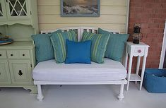 Cute oversized bench from crib