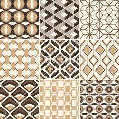seamless retro geometric pattern Royalty Free Stock Vector Art Illustration