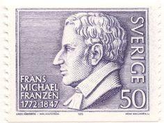 """Sweden 50ö """"Franz Michael Franzén"""" 1972. Arne Wallhorn sc."""