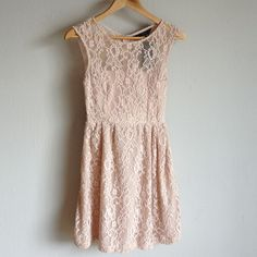 Zara Lace Dress Beautiful lace dress bought on Poshmark. Didn't fit quite right and sad to let this beauty go! My loss is your gain. Great for summers, weddings, and special events. Zara Dresses