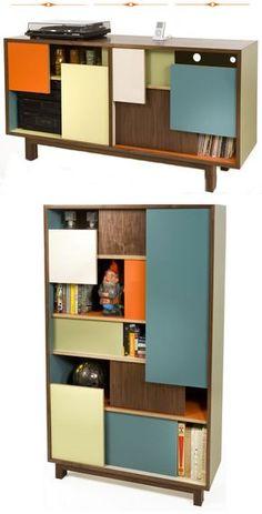 Thomas wold block party credenza bookshelf Mid Century Modern furniture