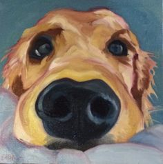Today's doggie painting! Http://evelynmccorristinpeters.com