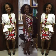 Check out these fab Ankara Style Fashion This Xmas Season. Ankara print are beautiful fabric you cant help but love, due to their versatile nature. African Fashion Ankara, African Inspired Fashion, African Print Fashion, African Wear, African Women, African Dress, African Prints, African Style, Kente Styles