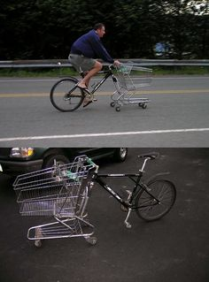 diy cart bike .....oooooo my this cracks me up~!