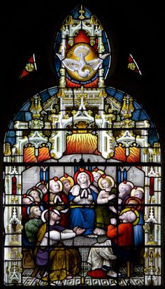 The Descent of the Holy Ghost upon Holy Mary and the Apostles