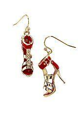 "Desinger Inspired 1"" Gold Tone Small Rhinestone Red High Heels Earrings Hail Mary Gifts, http://www.amazon.com/dp/B008JKZBAC/ref=cm_sw_r_pi_dp_sVxaqb00SQYC7"