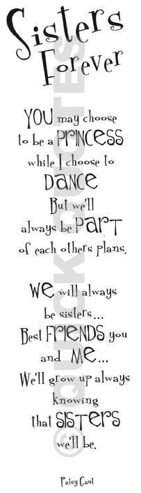 This is for my sis Melissa... may not be as close as best friends like most other sisters... but no one has been through what we have together... and no one understands our family like we do. So - we will always have that bond. <3 I don't say it enough! Love ya!