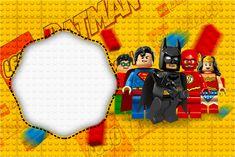 Convite,Moldura e Cartão Batman Lego Super Heroes: