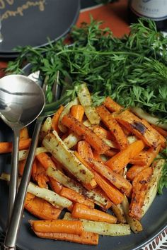 Gwyneth Paltrow's Maple-Dijon Roasted Winter Vegetables #vegan #vegetarian #glutenfree
