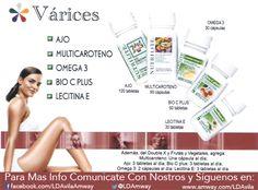 Sufres de #Varices? Tenemos tu solución 100% #Natural y #Organico de #Nutrilite…