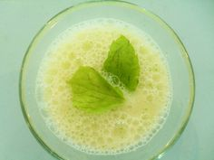 Smoothie of the day:  Melon*Banana*Peppermint MELONE*BANANE*MINZE Smoothie, Peppermint, Cantaloupe, Fruit, Day, Food, Banana, Fresh, Mint