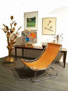 ≥ k) Jaren 70 tuigleer design buisframe fauteuil retro vintage - Fauteuils - Marktplaats.nl Leather Chairs, Barcelona Chair, Retro Vintage, Lounge, Furniture, Design, Home Decor, Armchairs, Airport Lounge