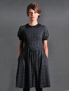 Knielange Kleider - J.U.N.O Jerseykleid - kariert - ein Designerstück von Femkit bei DaWanda