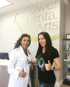 Dr. Rocha with her new Invisalign patient Amanda! #patient #towerdentalarts #naplesfl #dentistry #invisalign