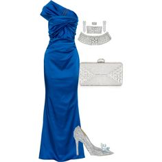 A fashion look from March 2015 featuring Talbot Runhof gowns, Jimmy Choo shoes and Judith Leiber clutches. Browse and shop related looks.