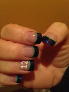 Seattle Seahawks Nails - But I would not get the 12.....