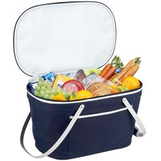 Interior HomeScapes offers the Collapsible Insulated Basket Cooler - Navy by Picnic At Ascot. Visit our online store to order your Picnic At Ascot products today. Vintage Picnic Basket, Picnic Baskets, Adult Lunch Box, Picnic At Ascot, Picnic In The Park, Southern Recipes, Southern Food