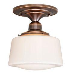 GRANT COURT  Classical Revival Flush Ceiling Fixture | Rejuvenation