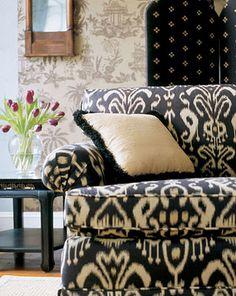 Blue - Ikat Sofa