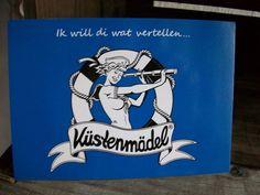 *küstenmädel* Postkarte Plattdeutsch Sailor Girl von Küstenmädel auf DaWanda.com