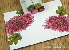 Introducing Mat Stack 1 Collection & Year of Flowers: Mums Copic Marker Art, Copic Pens, Copic Sketch Markers, Copic Art, Copics, Copic Markers Tutorial, Color Of The Day, Coloring Tutorial, Alcohol Markers
