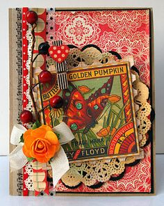 'Homespun Fall' Spellbinders Die Cut Card