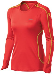 long sleeve running shirt - love the color