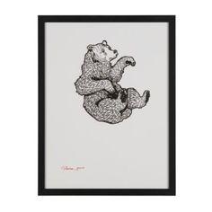 Falling Bear Wall Art