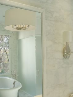 wall color......White Marble Bathrooms Design, Pictures, Remodel, Decor and Ideas - page 9